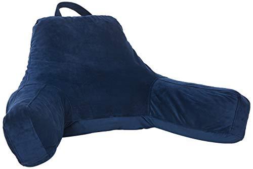 Linenspa Soft Velour Cover Shredded Foam Reading Pillow, X-Large, Navy