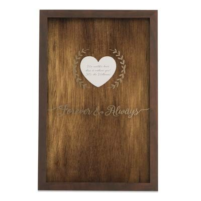 Things Remembered Personalized Rustic Heart Wedding Message Box with Engraving Included