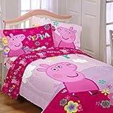 """Entertainment One """"Peppa Pig Tweet Tweet Oink"""" Microfiber Comforter, Twin"""