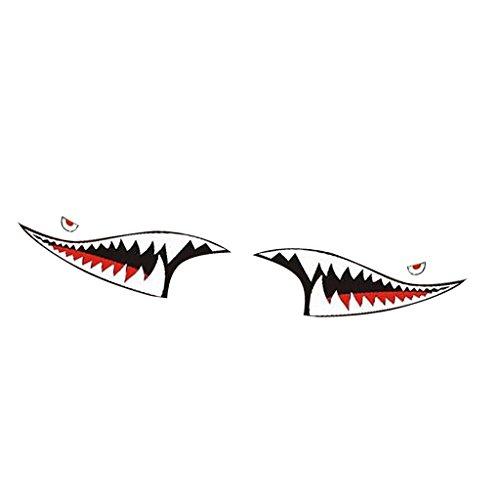 Homyl Great Performance 2Pcs 3813CM Shark Teeth Mouth Vinyl Car Sticker Decal - Side Shark Skirts