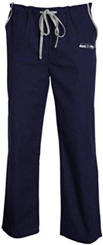 NFL Seattle Seahawks Unisex NFL Solid Scrub Pantsnfl Solid Scrub Pants, Blue, X-Large