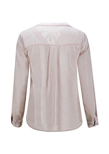 Beauty7 Camisa para Mujer de Cuello en V de Gasa con Una Cinta Ata por El Cuello Manga Larga para El Principio de Otoño Blusa Camiseta Estilo Casual Moda para Trabajo Noche Vacaciones (Talla)