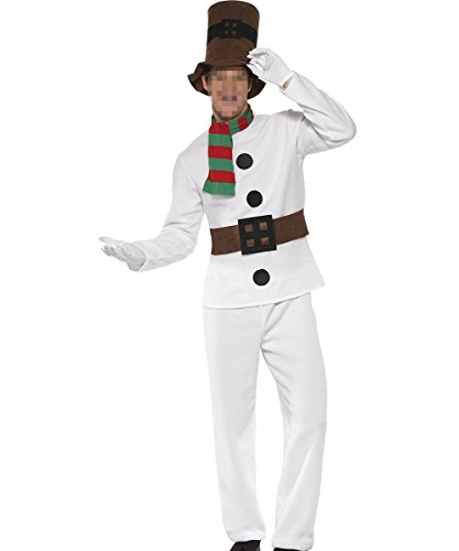 Mr Snowman Adult Mens Costumes (Vantina Men Mr Snowman Costume Christmas)
