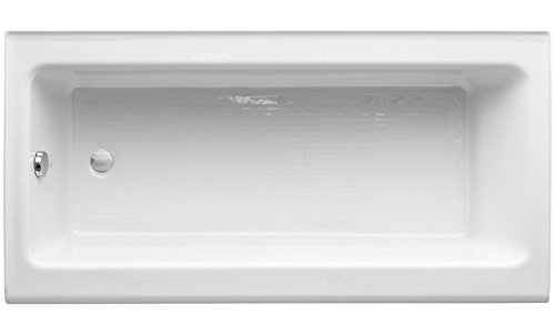 Kohler K-837-0 Bellwether 60-Inch by 30-Inch Cast Iron Bath with Integral Apron and Left-Hand Bath Drain, White Photo #2
