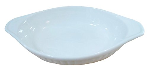 6 Pcs Oval Super White Porcelain Baking Dishes (9.25