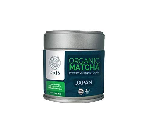 País Superfood Collection - Organic 100% Pure Japanese Matcha Green Tea Powder - (2018 Fresh First Harvest) Premium Ceremonial Grade [30g Tin]