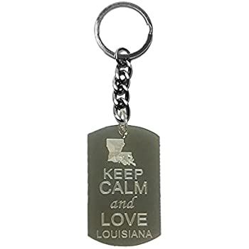 Metal Ring Key Chain Keychain Keep Calm and Love Pigs