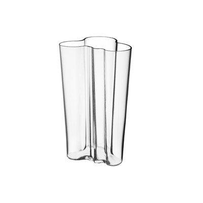 Aalto Clear Vase (Iittala Alvar Aalto 8-Inch Finlandia Vase, Clear)