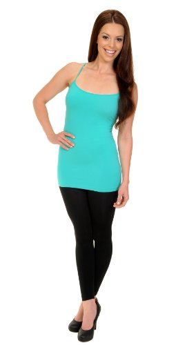 Love My Seamless Juniors Womens Spagetti Straps Fashion Long Camisole Cami