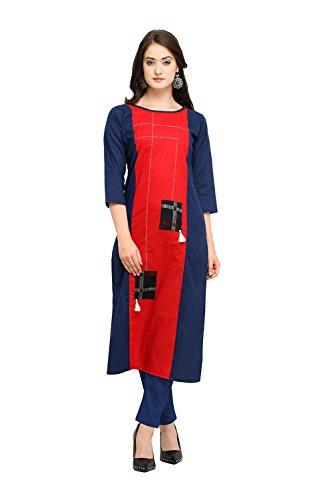 Rosso Donne Traditonal Kurti Progettista Etnici Kurti Ethnic Da Navy Readymade Partywear Indian Traditonal Blu Blue Indiane Navy Readymade Designer Red Facioun Partywear Facioun Women Da 6xUWT7qwBB
