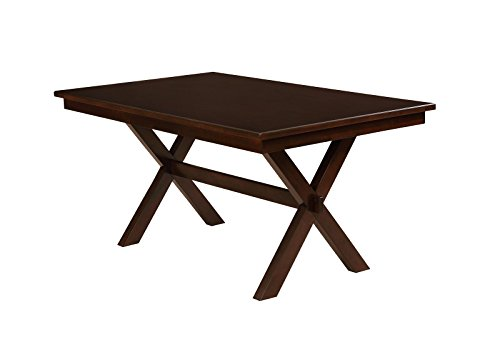 HOMES: Inside + Out IDF-3163T Housten Transitional Dining Table