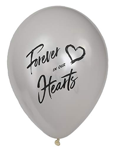 Forever in Our Hearts Memorial Balloons: 25-Pack Release