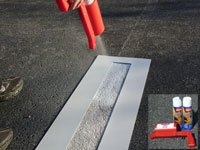 Parking Lot Line Touch-up Kit by stencil ease