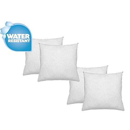 (IZO Home Goods Premium Outdoor Anti-mold Water Resistant Hypoallergenic Stuffer Pillow Insert Sham Square Form Polyester, 18