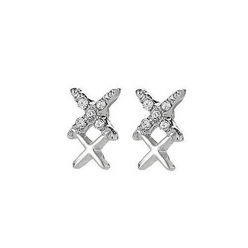 Campton Women Double Sided Ear Jacket Piercing Water Drop Crystal Earrings Cute Jewelry | Model ERRNGS - 492 ()