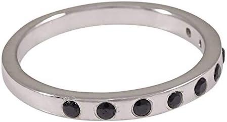 Elegant 925 Sterling Silver Onyx Stone Finger Ring Fashion Jewelry-IJVL-SJR2135