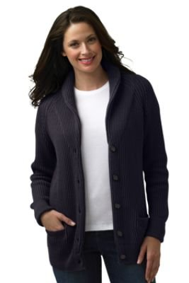 Women's Regular Shawl Collar Cotton Cardigan (UK Size 10 - 12 ...