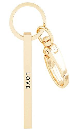 "Mix&Match ""LOVE"" Engraved Brass Bar Keychain Key Ring"