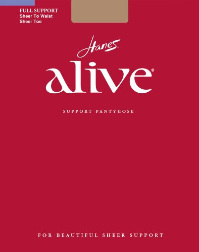 Hanes Alive Full Support Sheer to Waist (Pack of 1) Size:A Color:Barely - Nudes To Waist Sheer