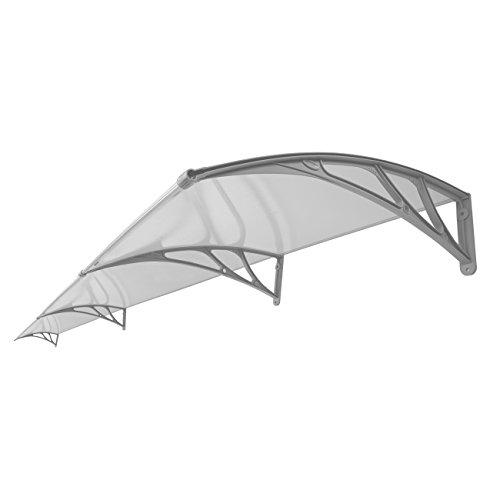 Ridgeyard DIY Door Window Awning Patio Balcony Canopy Sun Shade Shelter Rain Cover with Clear Hollow Panel by Ridgeyard