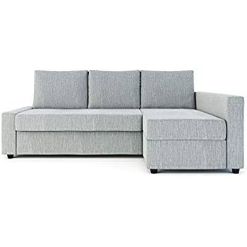 Sung Fit Friheten Slipcover for The IKEA Friheten with Chaise Corner Cover, Sofa Bed Cover, Sectional Slipcover Replacement (Polyester-Light Grey)