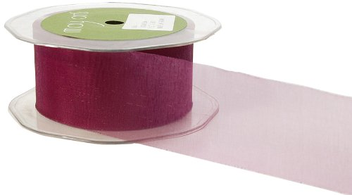 May Arts 3-Inch Wide Ribbon, Eggplant Sheer by May Arts