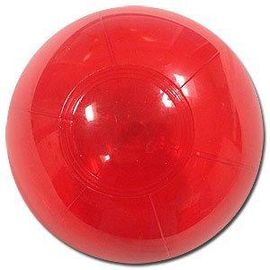 Beachballs - 6-Inch Translucent Red Beach (Red Beach Ball)