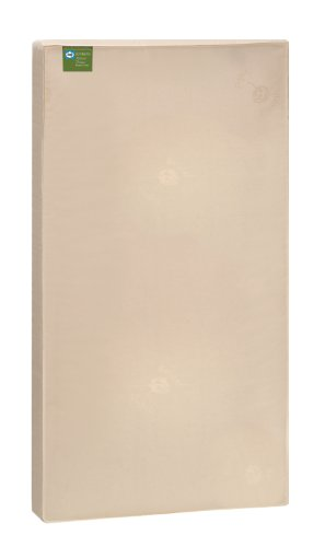 "Sealy Soybean Natural Dream Infant/Toddler Crib Mattress - Hypoallergenic Soy Foam, Luxurious Cotton Cover, Waterproof, Allergy Barrier, Lightweight, Air Quality Certified Foam, 51.7""x27.3"