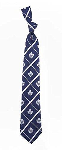 Toronto Maple Leafs NHL Silver Line Woven Silk Neck Tie Eagles Wings ()