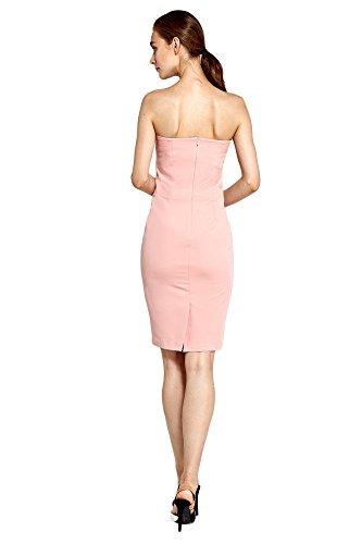 Abendkleid Damen Rüchenfrei Rosa Kleid Nife Bandeau qgW7wAq1O