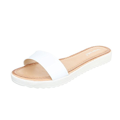Ital-Design - Sandalias de vestir de Material Sintético para mujer Weiß T165