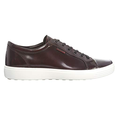 ECCO Men's Soft 7 Tie Fashion Sneaker, Bordeaux Premium Leather, 43 EU / 9-9.5 US