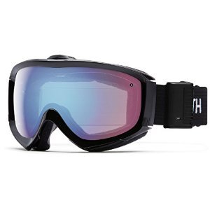 Smith Optics Prophecy Turbo Fan Adult Turbo Fan Series Snocross Snowmobile Goggles Eyewear - Black / Blue Sensor Mirror / Asian Fit by Smith Optics