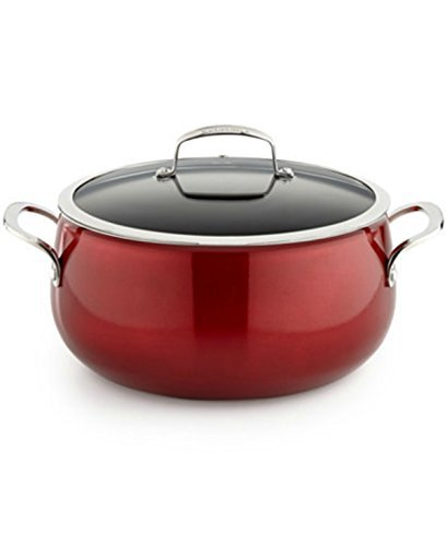 Belgique Non Stick Aluminum Dutch Oven 7.5 QT- Red