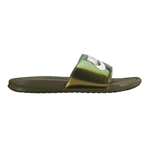 Nike BENASSI JDI PRINT mens fashion-sneakers 631261-200_9 - MEDIUM OLIVE/WHITE by NIKE