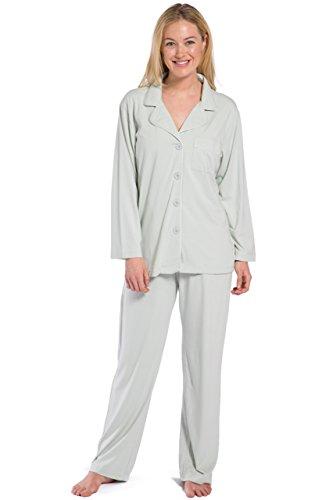 Fishers Finery Women's Women's Pajama Set; Long Sleeve, Ecofabric, Sea Glass, M