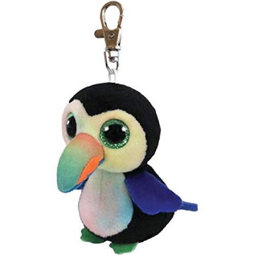 T&Y Ty Beanie Boos BEAKS - Toucan bird Clip Key Chain Plush -