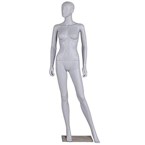 Giantex Female Mannequin Full Body Dress Form Display w/Base, Light Gray (Gray Style 1)