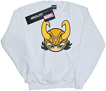 Marvel Herren Loki Close Up Sweatshirt Weiß Medium