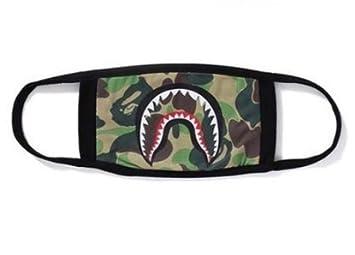 M-G-X Fashion a baño ape tiburón Bape negro máscara camuflaje mouth-muffle Bape Cubierta