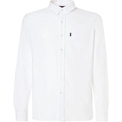 Oakley Mens Men's Oxford LS, White, L