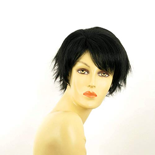 univers perruque Short Wig For Women Smooth Black Ref Romane 1b