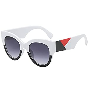 Women Fashion Unisex Oval Shades Patchwork Sunglasses By Limsea