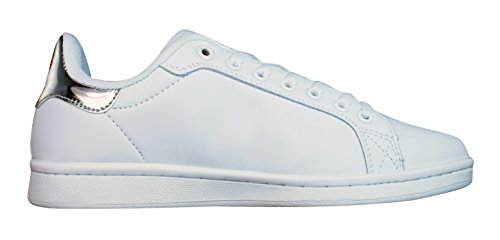 Mistral Womens Leather Lace Up Trainers / Shoes White sxk9YXfKo