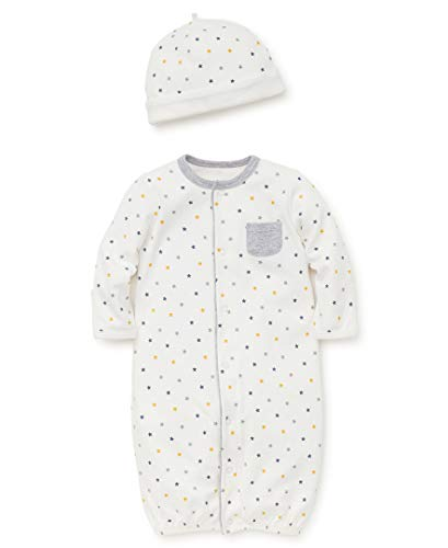 Little Me Baby Boys Gown and Hat, Star, 3-6 Months
