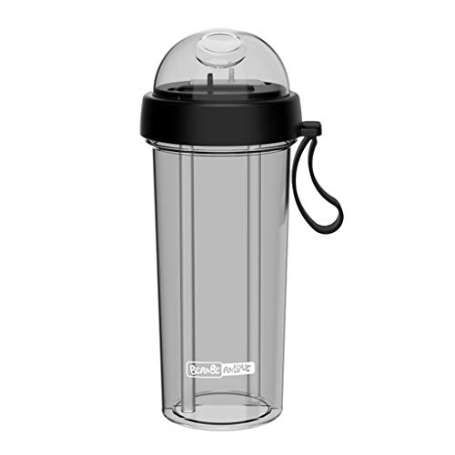 (Outdoor Sports Travel Creative Dual-use Water Bottle with by TUU, Portable Leak-proof Water Bottle Cup, Great for Cycling, Camping,Travel ,Climbing, Even Stay at Home (Black))