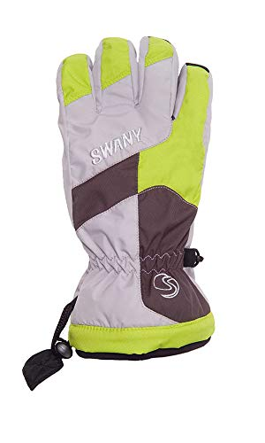Swany Junior Ollie Glove, Light Gray/Lime, -