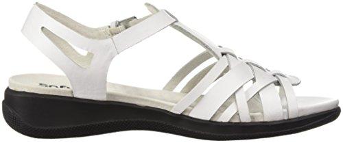 Softwalk Women's TAFT Wedge Sandal, Natural, Manmade/Synthetic White