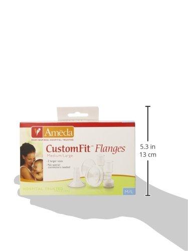 Ameda CustomFit Breast Flanges, Medium/Large