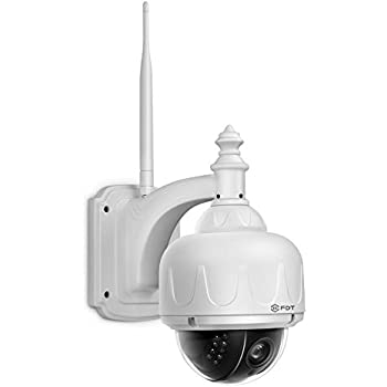 FDT Outdoor PTZ (4x Optical Zoom) HD 960p WiFi IP Camera (1.3 Megapixel), IP65 Weatherproof, Wireless Security Camera FD7903 (White), Pan/Tilt/Zoom, Night Vision - 65ft (20meters)